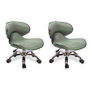 MAYAKOBA SET OF 2 Nail Salon Pedicure Stool UMI STORM GREY Pedicure Chair Short Adjustable Comfort Pneumatic Pump Salon Furniture & Equipment