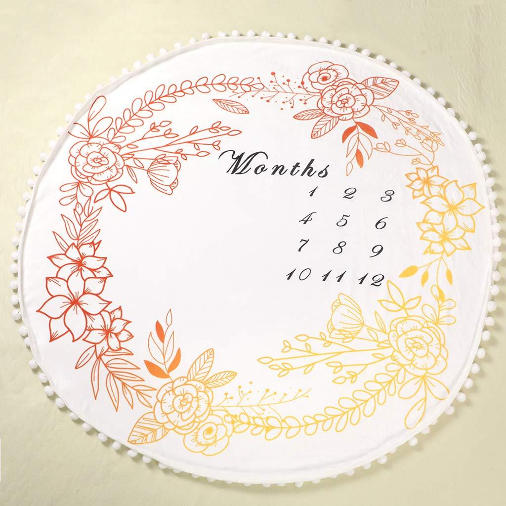 osfanersty mensual Milestone Mantas de beb/é Las espiras Suave Manta Toallas de ba/ño reci/én Nacido