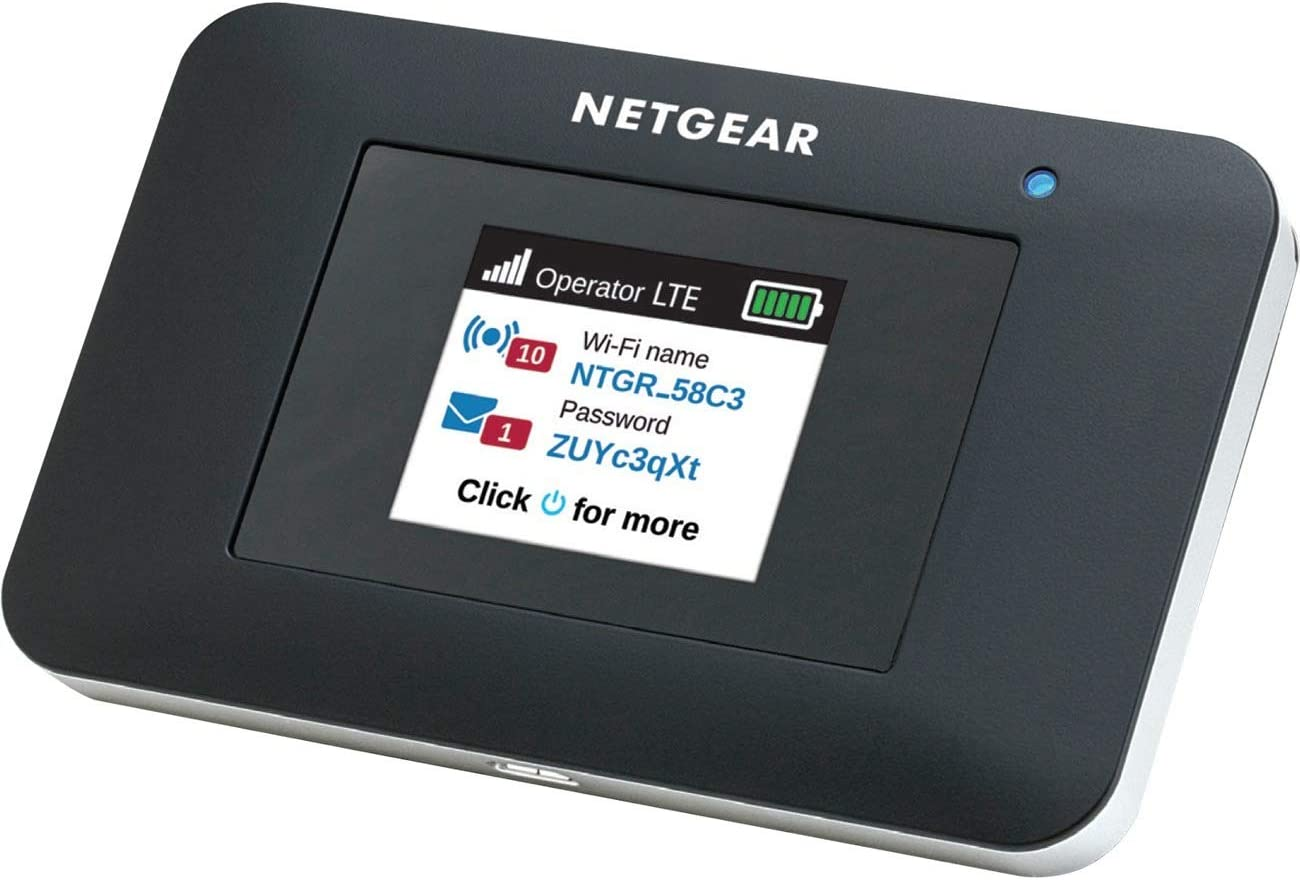 NETGEAR AirCard Mobile Hotspot 4G LTE Router AC797-100NAS - Up to 400Mbps Download Speed | WiFi Connect up to 15 Devices | Create a WLAN Anywhere | Unlocked to Use Any SIM Card