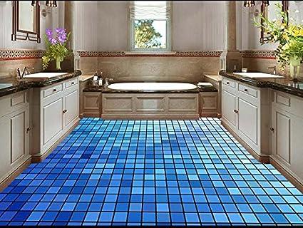 Bagni Blu Mosaico : Lqwx 3d bagno al piano custom 3d verniciatura pavimento mosaico blu
