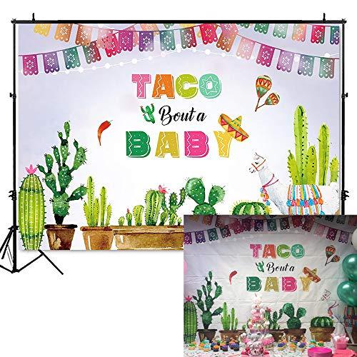 Fiesta Items - Mocsicka Mexican Baby Shower Backdrop Taco