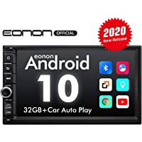 2020 Newest Double Din Car Stereo, Eonon Android 10 Car Stereo with Navigation,Car Radio Android Head Unit with DSP,Support Android Auto Apple Carplay/WiFi/Fast Boot/Backup Camera/OBDII-7 Inch -GA2186