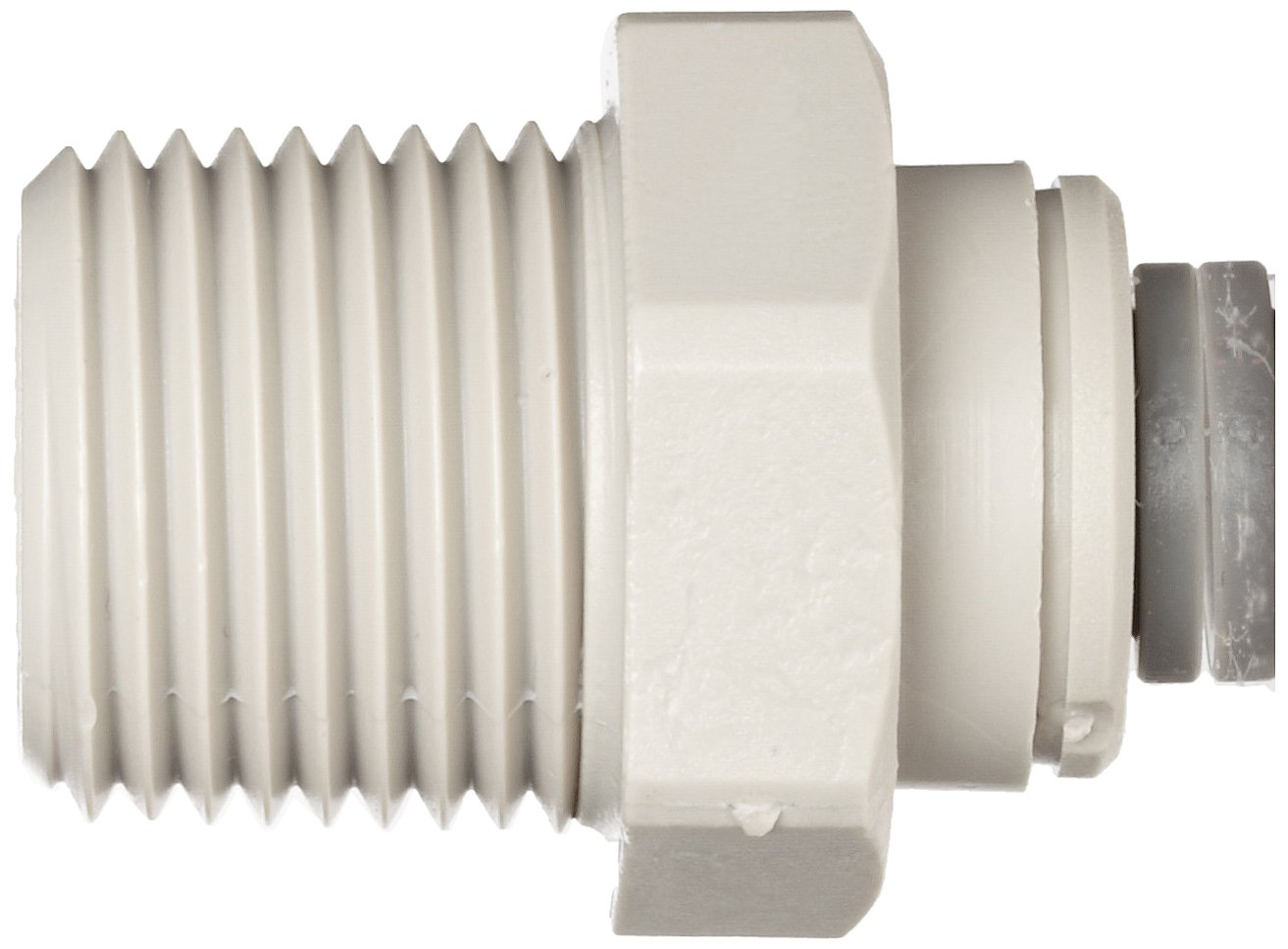 John Guest Acetal Copolymer Tube Fitting Pack of 10 Straight Adaptor 1//4 Tube OD x 1//4 NPTF Male