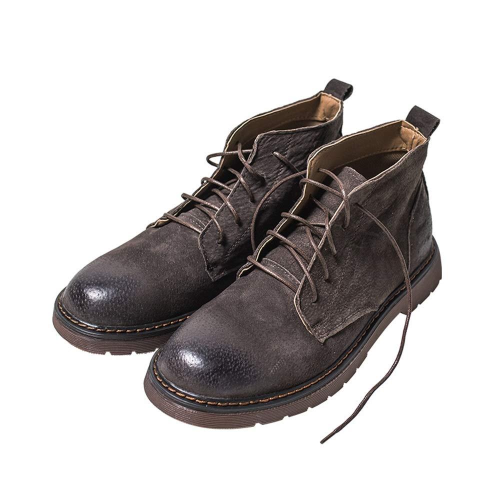 ZHRUI Herren Lackleder Lackleder Lackleder Klassische Stiefeletten Weiche Sohle Durable Non Slip Stiefel (Farbe   Braun, Größe   EU 41) 7de8c9