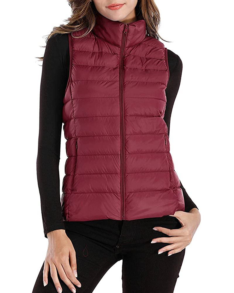 KUFV Women Packable Ultra Lightweight Down Vest Outdoor Puffer Vest 11059