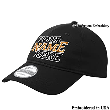 bd3b25bbe08ff Custom New Era - 9TWENTY Adjustable Structured Cap. Embroidered. Your Own  Text Embroiderey (