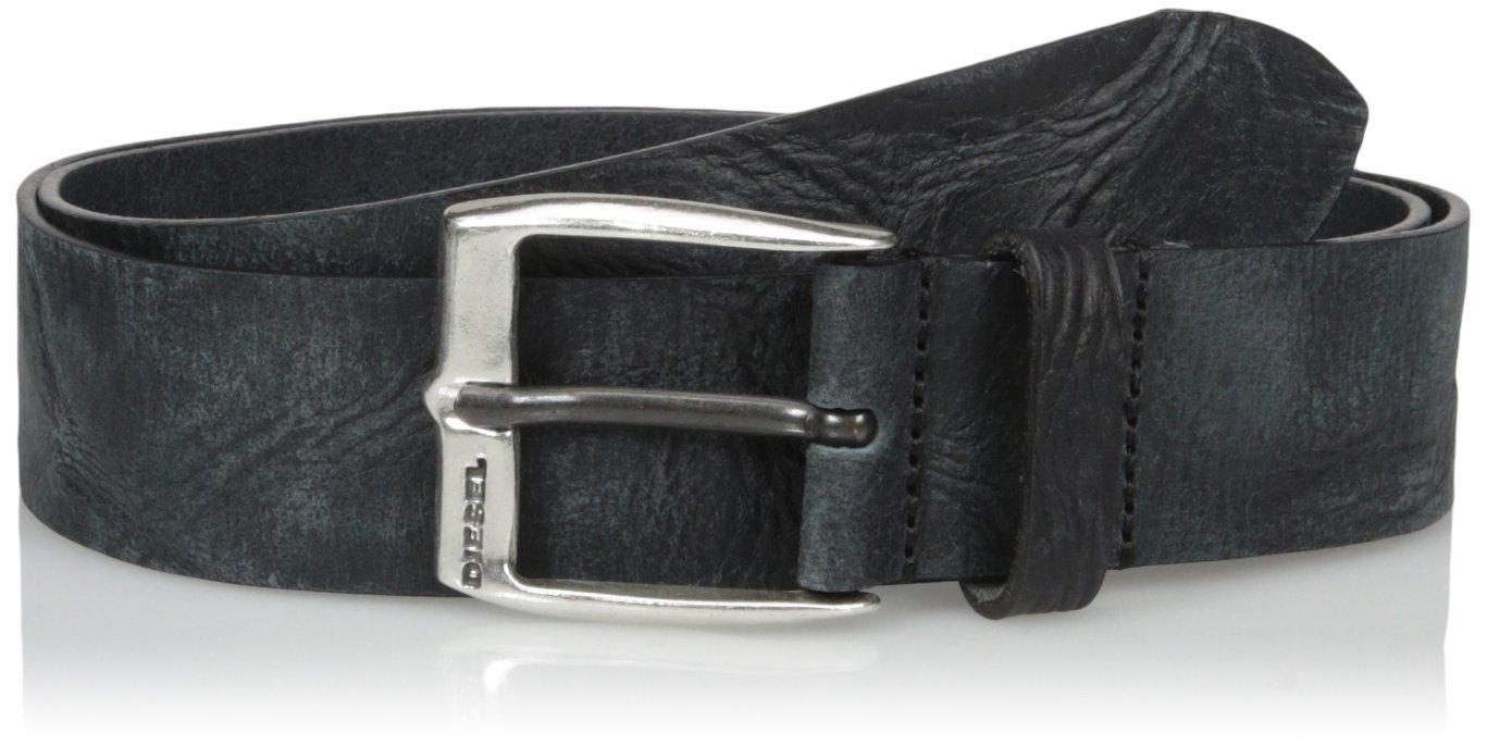 (ディーゼル) DIESELメンズ バファローレザーベルト - B-WHYZ - belt B01MFGRJQQ 95(日本サイズXL相当)|ブラック ブラック 95(日本サイズXL相当)