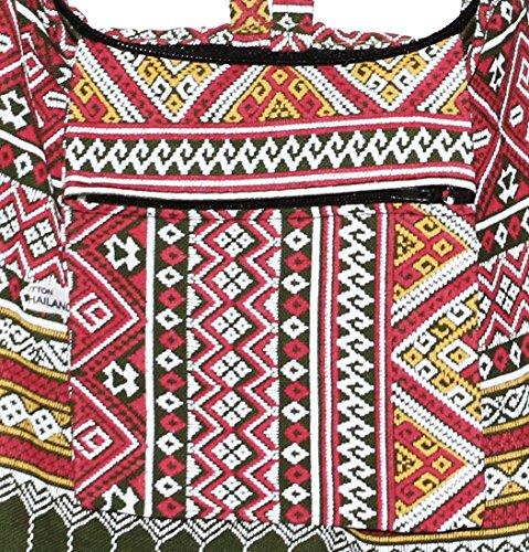 Boho Hobo Classics Hippie Bag Shoulder Olivegreen Bohemian Colorful Cross Body RXZwaxHn