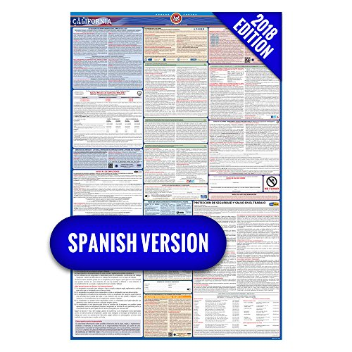 2018 California (Spanish) Labor Law Poster – State & Federal Compliant – Laminated