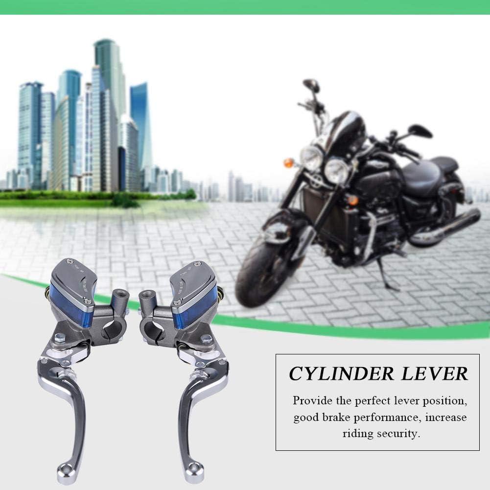 Argento EBTOOLS Pompa frizione freno moto coppia 22mm leva freno pompa frizione idraulica in lega di alluminio CNC regolabile