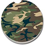 CounterArt Absorbent Stoneware Car Coaster, Camouflage