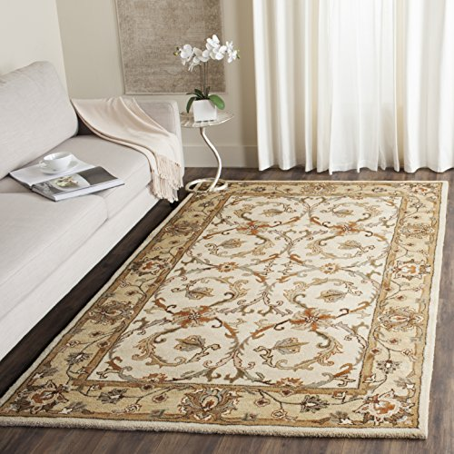 Safavieh Heritage Collection HG967A Handcrafted Traditional Oriental Beige and Gold Wool Area Rug 4 x 6