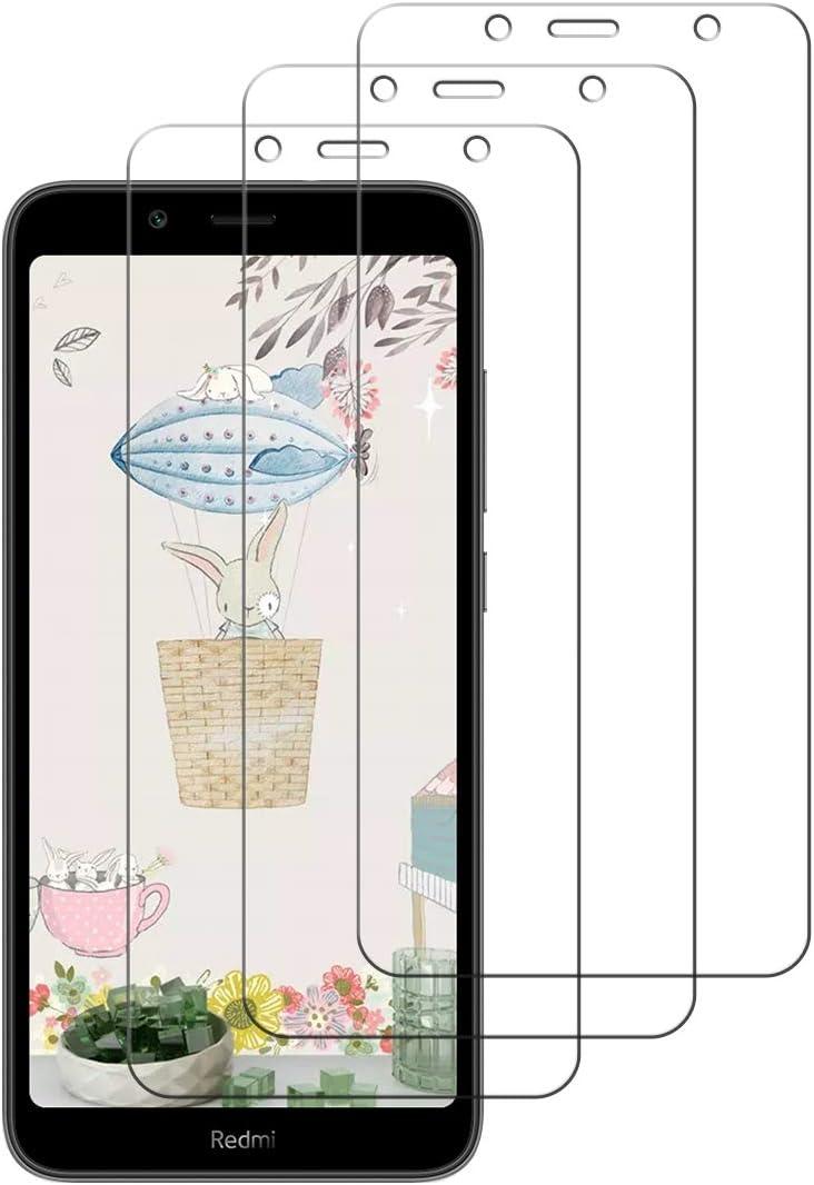 Cafwly 3 Unidades Protector de Pantalla para Xiaomi Redmi 7A,Cristal Templado para Xiaomi Redmi 7A [Alta Definicion] [Arañazos Resistente][Fcil de Instalacin]