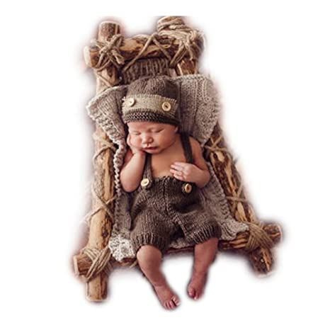 Fashion recién nacido niño niña bebé disfraz fotografía Props sombrero de pantalones