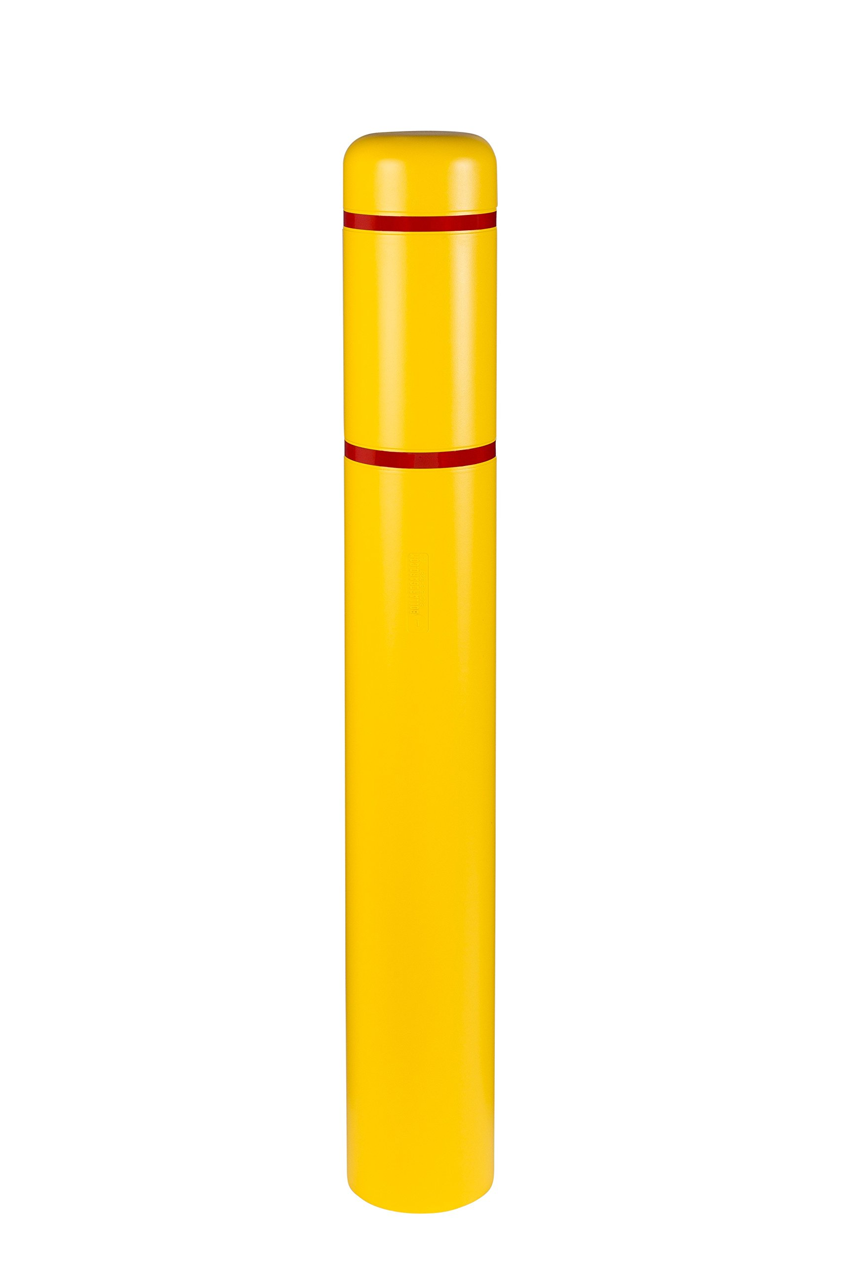 Innoplast 7'' x 52'' (7.1'' ID) Bollard Cover Yellow with Red Reflective by Innoplast (Image #2)