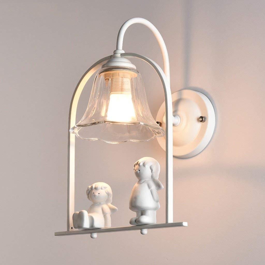 JU Harz-Engels-kreative Persönlichkeit führte Nachttischlampe Moderne einfache Schlafzimmer-Gang-Treppenhaus-Korridor-Wand-Lampe B07HL6WVVS | Helle Farben