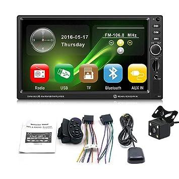 KOBWA GPS máquina de navegación de Coche con cámara 7 Pulgadas HD Touch Pantalla Coche Bluetooth
