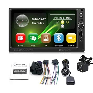 "KOBWA GPS Navegación Coche 7"" HD Pantalla Táctil Coche Bluetooth Llamada Radio MP5/FM"