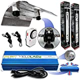 Yield Lab Pro Series 1000W Double Ended Wing Reflector Complete Grow Light Kit- HPS+MH