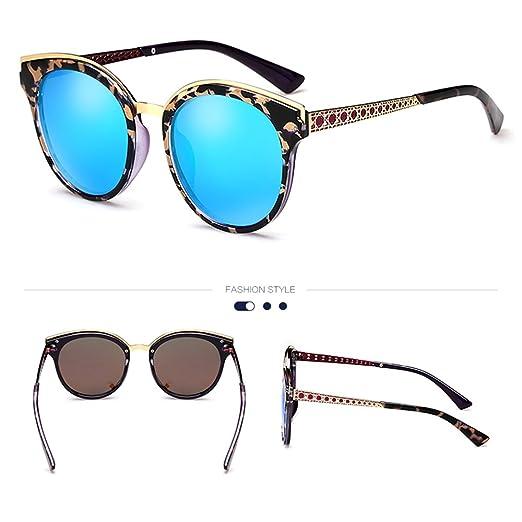 ZHIRONG Polarisierte Damen-Sonnenbrille von, 100% UV Block +, Fahren, Tourismus, Angeln, Golf-Brille spielen, ( Farbe : Blau )
