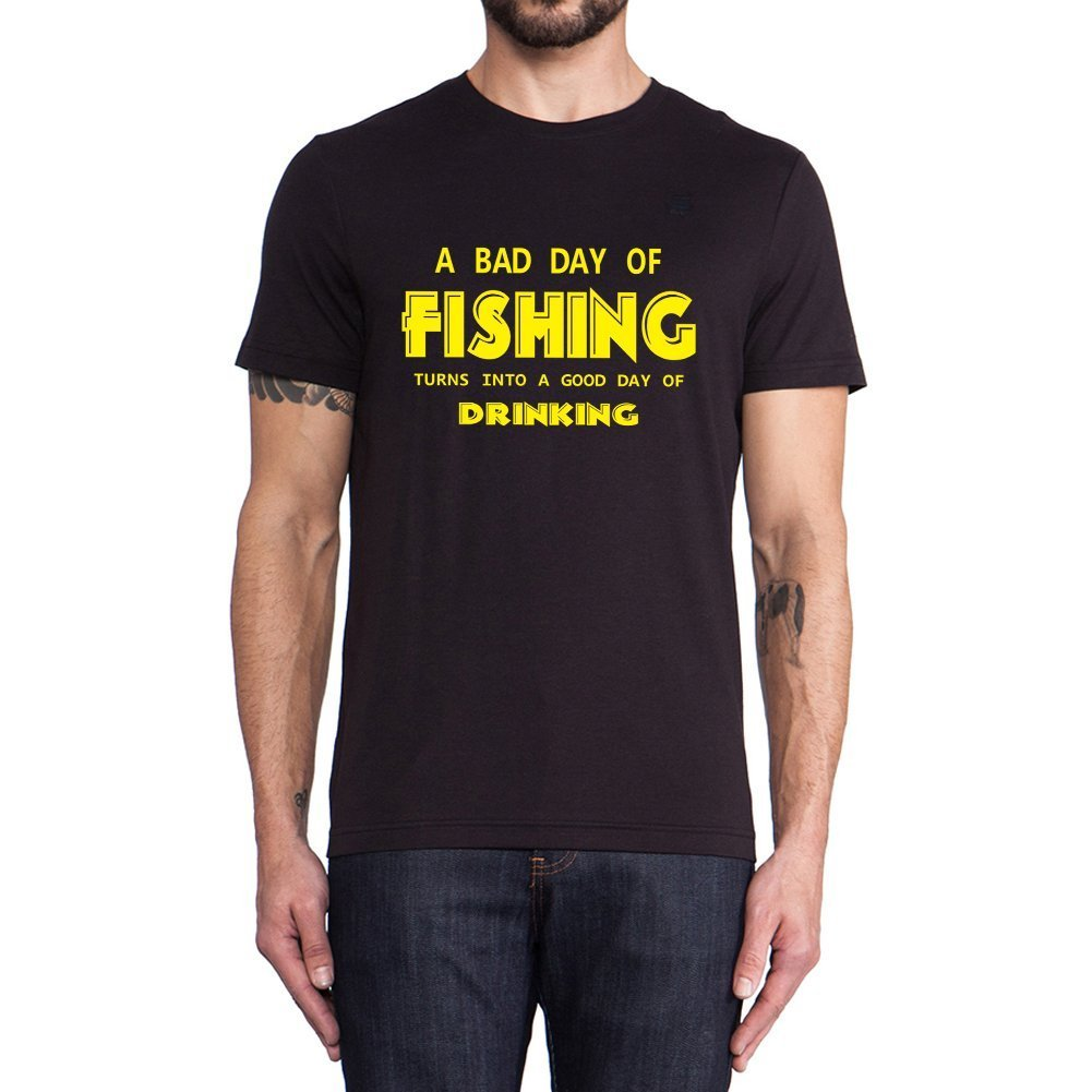 Loo Show A Bad Day Of Fishing T Shirts Summer Tee