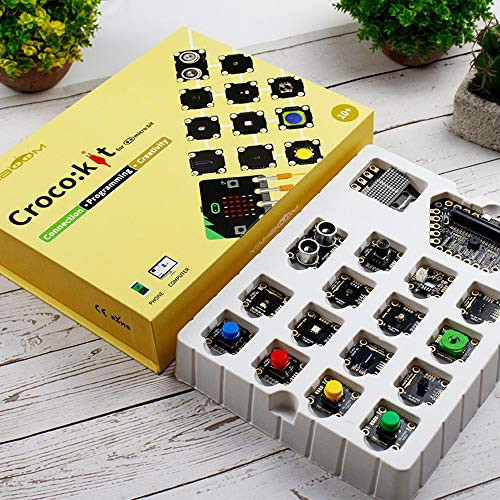 Yahboom Micro:bit Sensor Project Starter Kit Scientific Experiment STEM Education for Kids with Tutorial (Micro bit NOT Include)