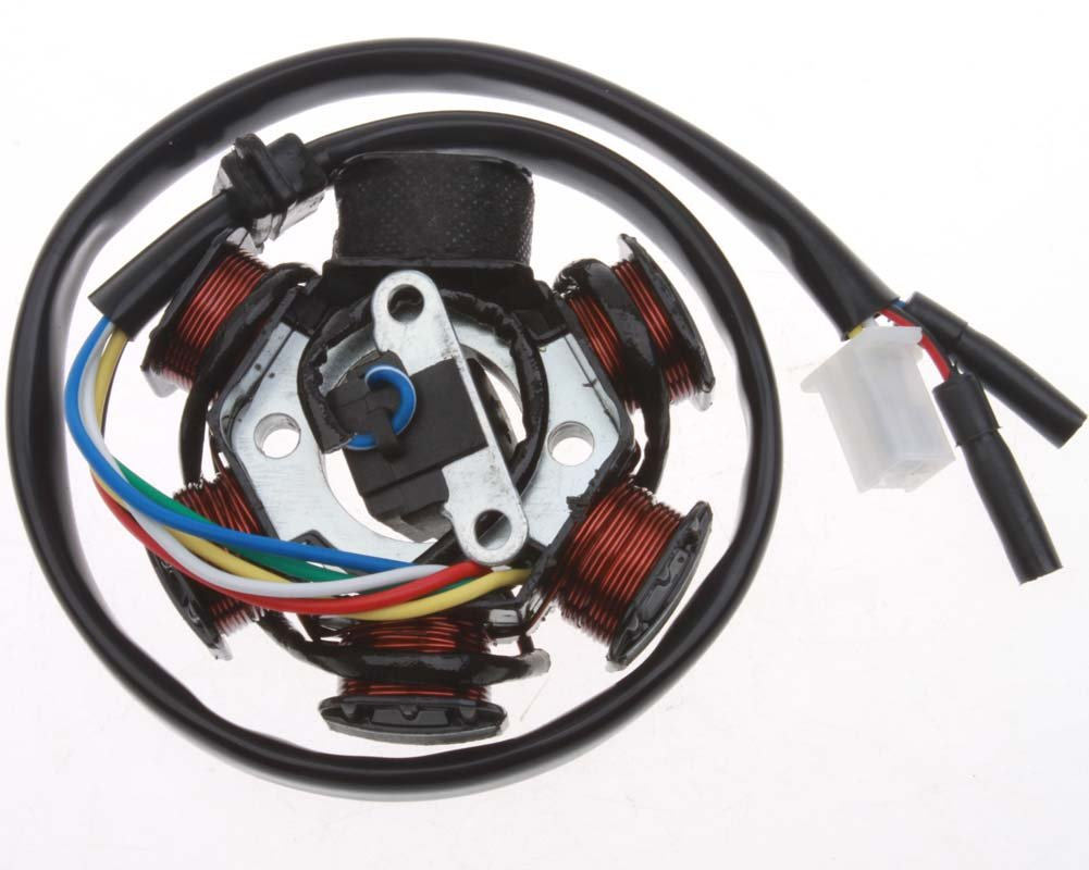 Mx-M Ignition Stator Magneto AC 6 Pole Coil for GY6 150 150cc Scooter Moped ATV Dune Buggy Go Kart