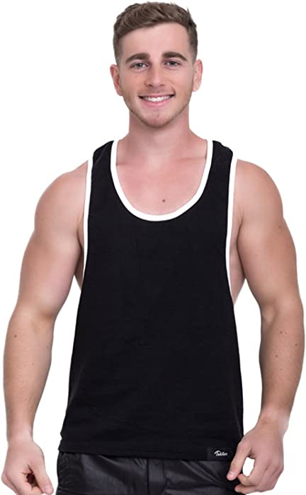 5afbd42ba02fd8 Men Tank Top Cotton Solid Tshirts Sleeveless Muscle Gym Stringer Fitness