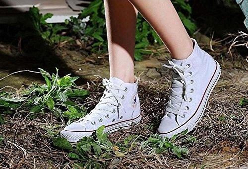 Rise Color Las Tamaño 39 Unisex Rojo Casual Azul Shoes de Mujeres de Zapatos Zapatos Negro Low Blanco Blanco Estudiantes los Par 35 Lona de Tamaño 34 twSWqBY