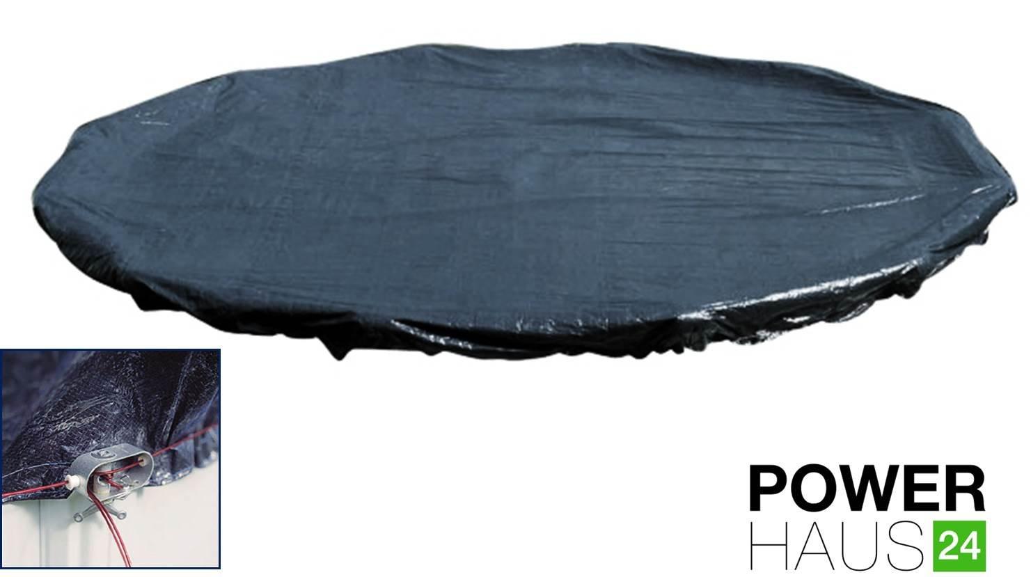 POWERHAUS24® -Winterabdeckplane für Rundbecken Ø 3,50 bis 3,60m