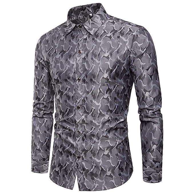 Camisetas, TWBB Camisa para Hombres Camisa Slim Fit De Manga Larga con Botones Casual Blusa Superior Formal: Amazon.es: Ropa y accesorios