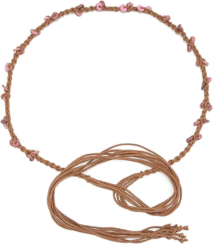 Cinturón De Mujer Cinturón Cinturón Esencial Mujer De De Cuero Cadena Trenzada Trenzada Tejida Tejida Cadena Tejida 70 Cm Ancho 5 Cm Con Cuerda De Cera