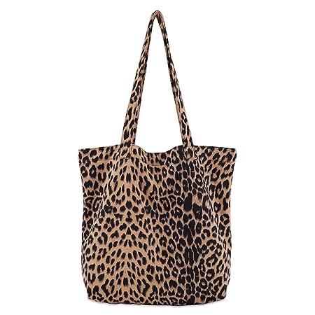 1fe6025fdbb JAGENIE Women Leopard Print Handbag Shoulder Ladies Purse Messenger ...