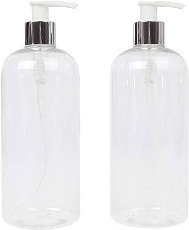 LUCEMILL 2 botellas de plástico transparente de 500 ml con ...