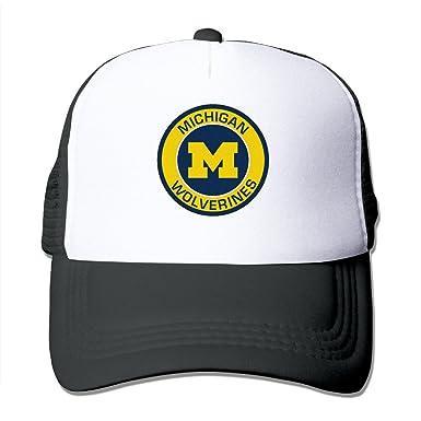 Michigan Wolverines Logo Men And Women Fashionbale Adjustable Baseball Cap  Mesh Cap fd279f405fe