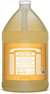 product image for Dr. Bronner's - Pure-Castile Liquid Soap (Citrus, 1 Gallon) - Made with Organic Oils, 18-in-1 Uses: Face, Body, Hair, Laundry, Pets and Dishes, Concentrated, Vegan, Non-GMO