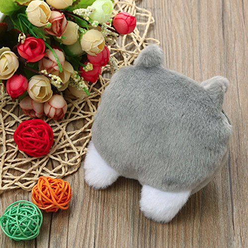 Change Cat JESPER Plush Grey Bag Multicoloured Purse Purse Butt Tail Cute Coin C0xwpgqBw