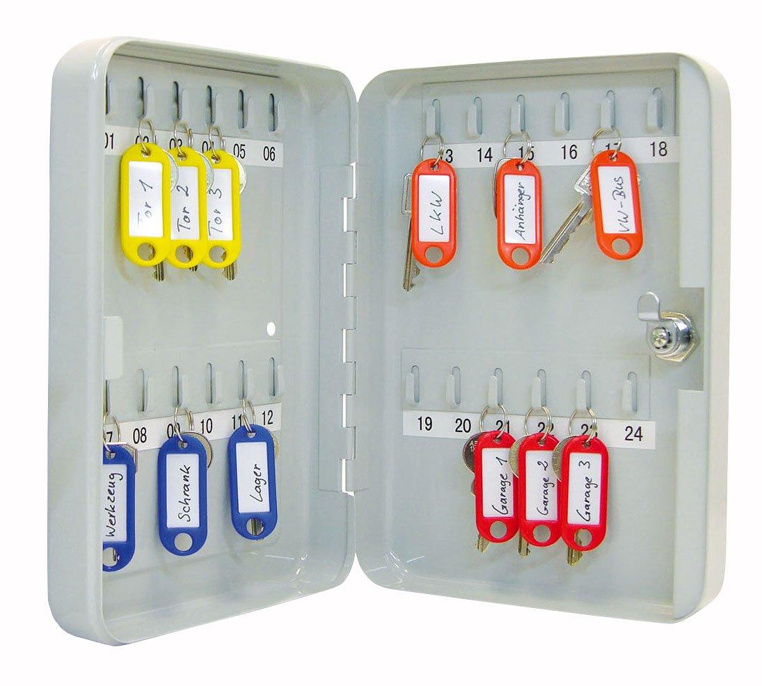 Wedo 10253637X Schlüsselschrank (für 36 Schlüssel, pulverbeschichtetes Stahlblech 18 x 6 x 25 cm, Sicherheitsschloß inklusive 2 Schlüssel, lichtgrau Werner Dorsch GmbH