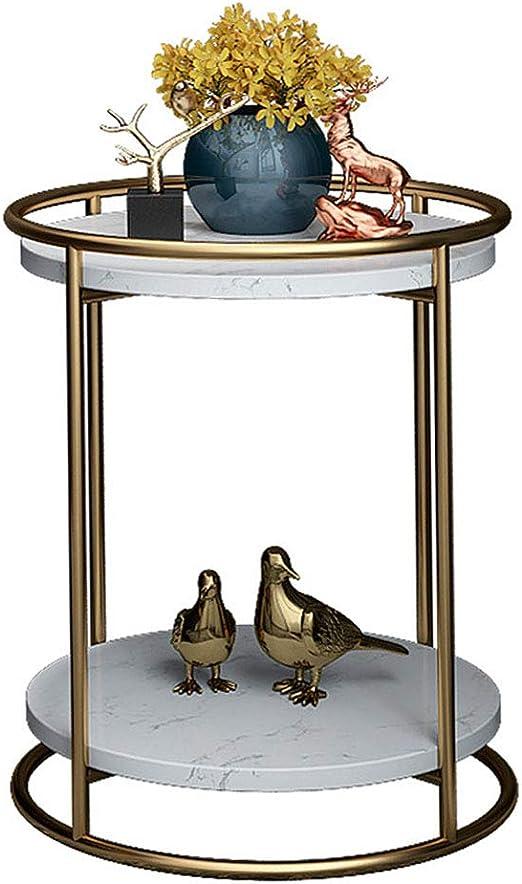 NATUO-Mesas de Muebles Mesa Auxiliar Doble de jardín Mesa Auxiliar ...