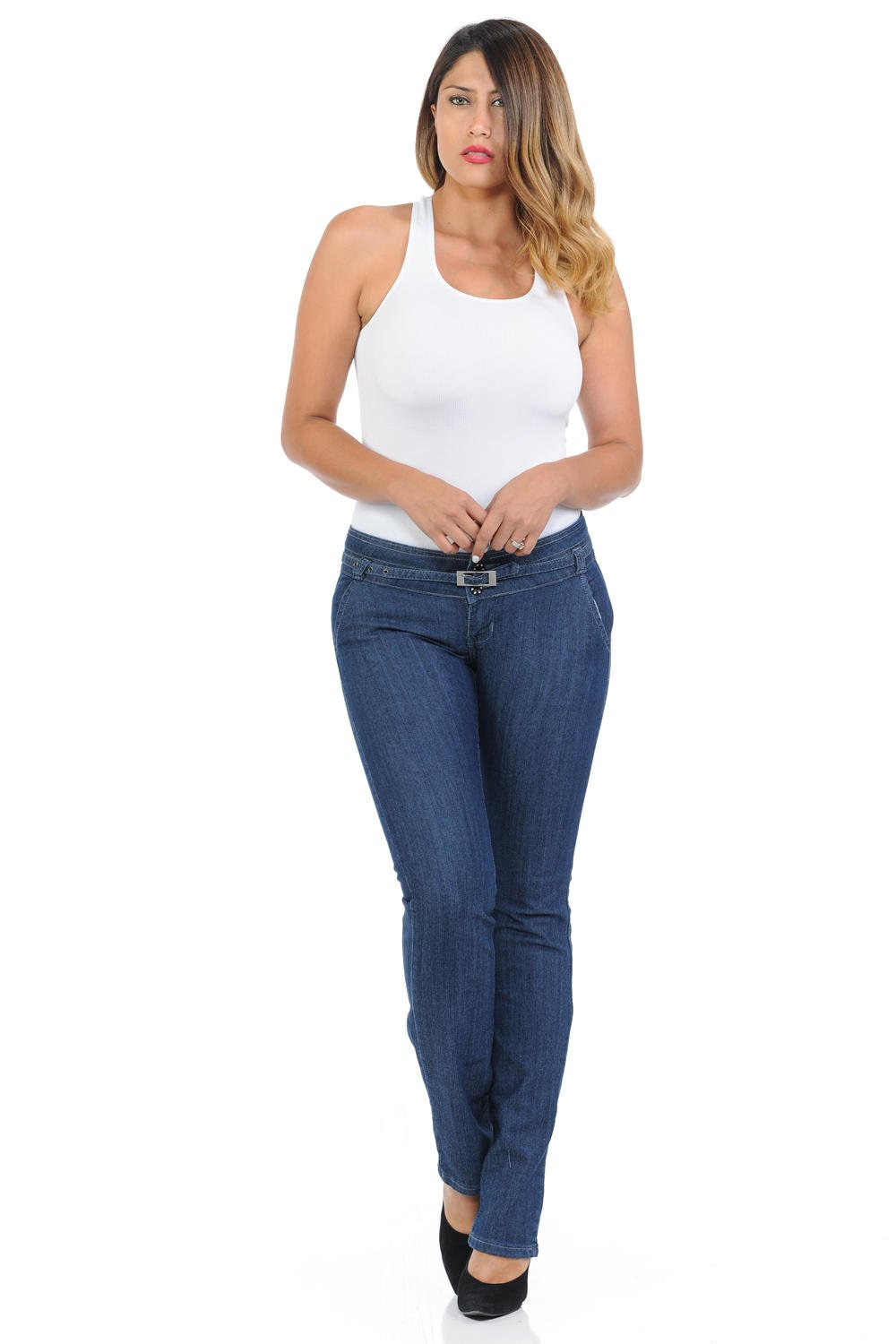 Pasion Women's Jeans · Push Up · Bootcut · Amazing Fit · Style B747-LW · Blue · Size 0
