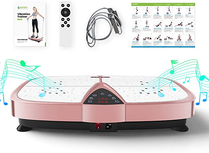 Whole Body Vibration Fitness Trainers Yeavail Vibration Plate Exercise Machine Lose Fat /& Tone Up【UK in Stock】 Non-slip Intelligent Exercise Equipment for Home Use Training and Muscle Shaping