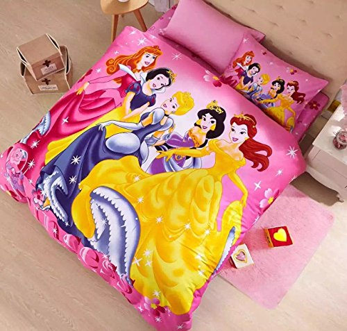Disney Princess Bedding Set (Queen) (Queen Size Pink Princess Bedding)