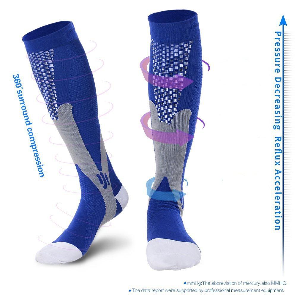 5490c90e248701 L/XL, Black Travel Best For Running Nursing,Better Blood Circulation 20- 30mmHg Pregnancy Compression Socks ...