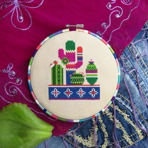 Cactus Cross Stitch Pattern No. 1 - Chart Only