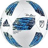 adidas MLS Glider Soccer Ball, White/Blue, Size 5