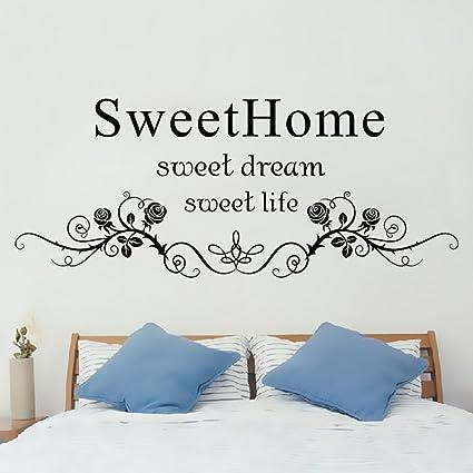 Winhappyhome Sweet Home Wall Art Adesivi per Camera da Letto ...