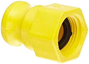 """Banjo GHFT075A Polypropylene Cam & Groove Fitting, 3/4"""" Male Adapter x GHT Female"""