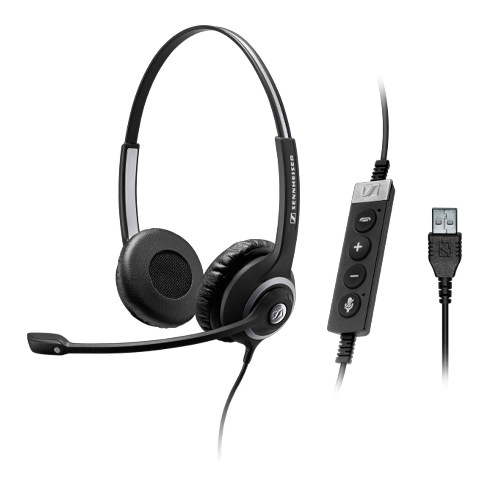 Sennheiser SC 260 USB CTRL II (506481) - Double-Sided Business Headset | For Unified Communications, Softphone, and PC | with HD Sound, Noise-Cancelling Microphon (Black) by Sennheiser Enterprise Solution