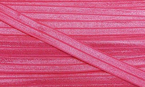 5 m elastisches Einfaßband 14 mm pink