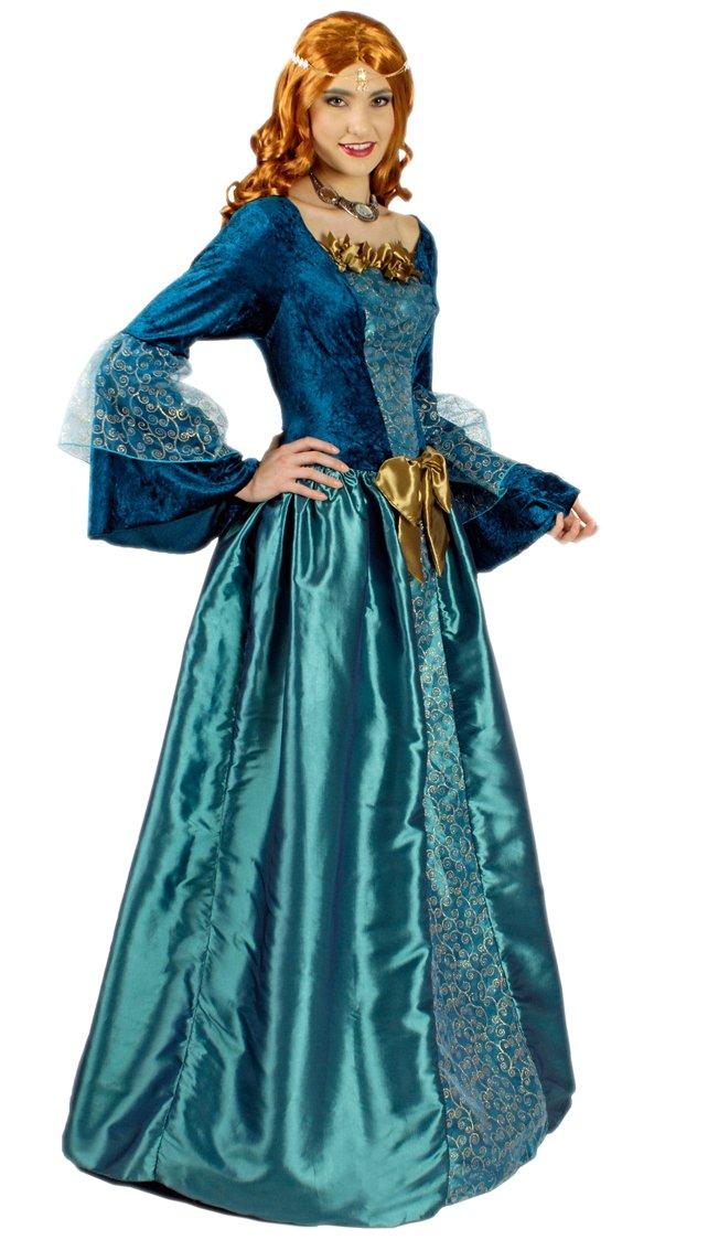 Mittelalter-Kleid / Prinzessinen-Kleid in türkis-blau | Größe 36/38 | Burgdamen-Kleid für Karneval (36/38)